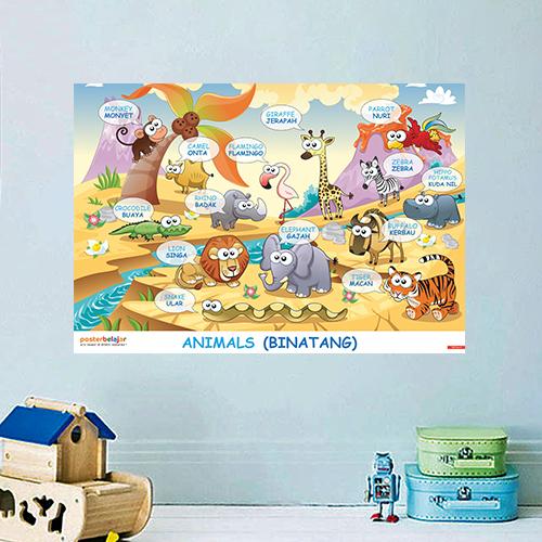 Poster Pendidikan Poster Belajar Binatang Tipe 1